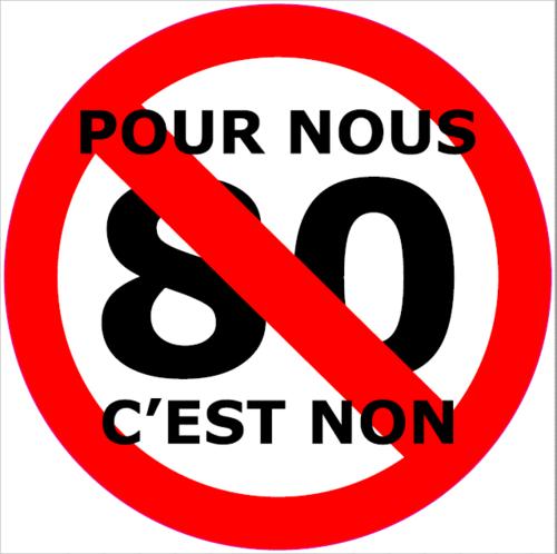 """Sticker """"Pour nous 80 c'est non"""""""
