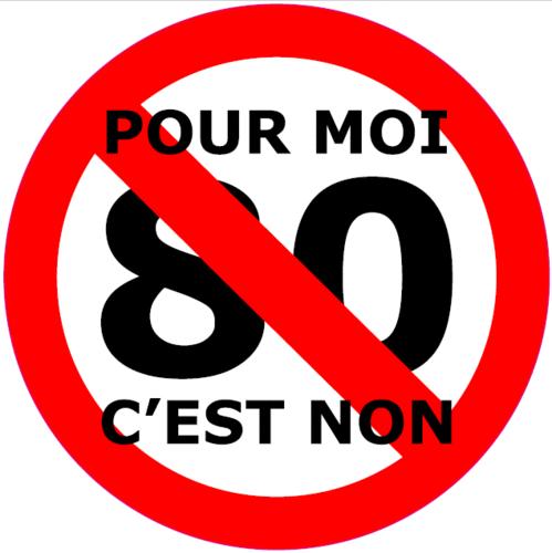 """Sticker """"Pour moi 80 c'est non"""""""