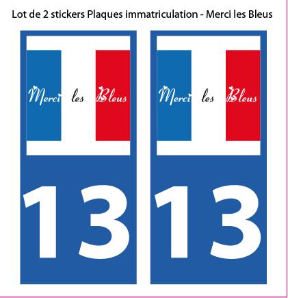 Lot 2 Stickers plaque immatriculation Voiture - Mondial 2018