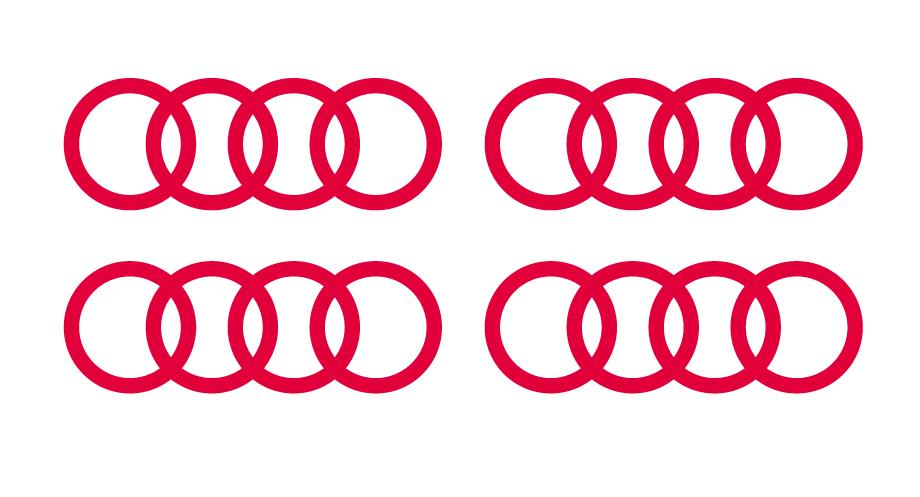 Lot de 2 stickers Logo Audi - Dim 200 x 70 mm