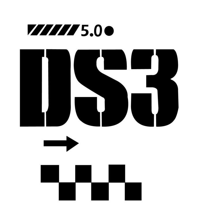 Lot de 2 Stickers Logo Citroen DS3 -Dim 31 x 34cm