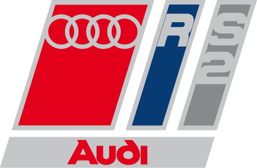 Lot de 2 Stickers Logo Audi RS2 - Dim 4 x 2.7 cm