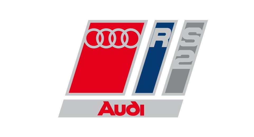 Lot de 2 Stickers Logo Audi RS2 - Dim 4 x 2.7 cm