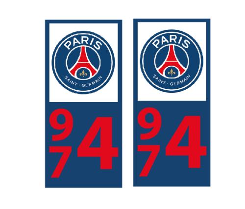 Lot 2 Stickers plaque immatriculation Voiture Paris - 02