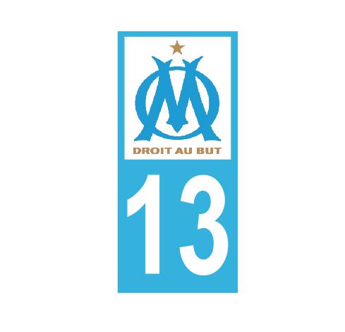 Lot 2 Stickers plaque immatriculation Voiture Marseille - 03