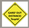 Sticker Garde out distance - 108 x 108 mm