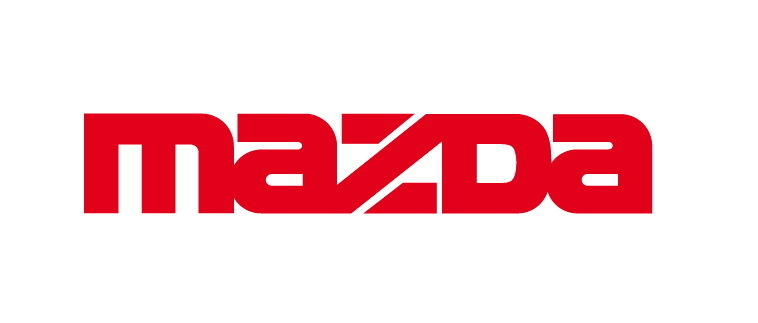 Lot de 2 Stickers Logo Mazda- Taille 10 x 1.5 cm