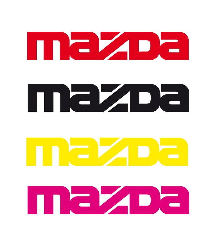 Lot de 2 Stickers Logo Mazda - Taille 15 x 2.60 cm
