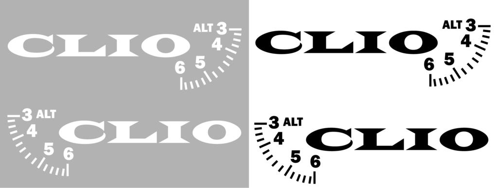 Lot de 2 Sticker RENAULT CLIO modèle 01 - 300 x 87mm