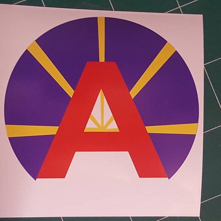 Sticker plaque A de décoration 05cm - Drapeau Mahaveli